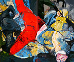 2011, Polytych of 4 pieces: 2x2,40m, oil on canvas
